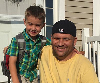 Aaron Birt and nephew